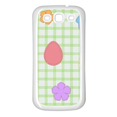 Easter Patches  Samsung Galaxy S3 Back Case (white) by Valentinaart
