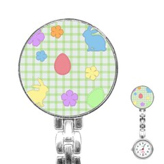 Easter Patches  Stainless Steel Nurses Watch by Valentinaart