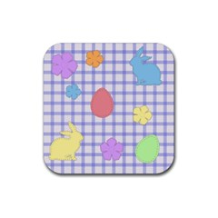 Easter Patches  Rubber Square Coaster (4 Pack)