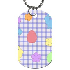 Easter Patches  Dog Tag (two Sides) by Valentinaart
