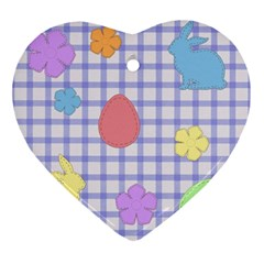 Easter Patches  Ornament (heart)