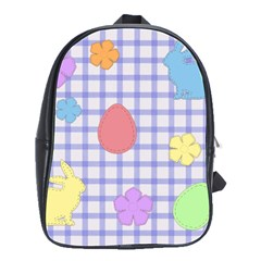 Easter Patches  School Bag (large) by Valentinaart