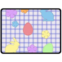 Easter Patches  Fleece Blanket (large)  by Valentinaart