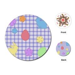 Easter Patches  Playing Cards (round)  by Valentinaart