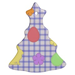 Easter Patches  Christmas Tree Ornament (two Sides) by Valentinaart