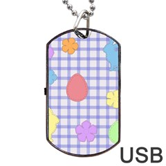 Easter Patches  Dog Tag Usb Flash (two Sides) by Valentinaart