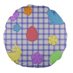 Easter Patches  Large 18  Premium Round Cushions