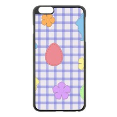 Easter Patches  Apple Iphone 6 Plus/6s Plus Black Enamel Case by Valentinaart