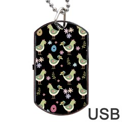 Easter Pattern Dog Tag Usb Flash (two Sides)