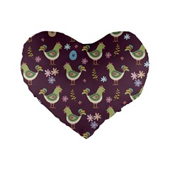 Easter Pattern Standard 16  Premium Heart Shape Cushions
