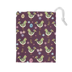 Easter Pattern Drawstring Pouches (large)
