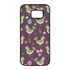 Easter Pattern Samsung Galaxy S7 Edge Black Seamless Case