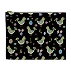 Easter Pattern Cosmetic Bag (xl)