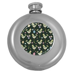 Easter Pattern Round Hip Flask (5 Oz)