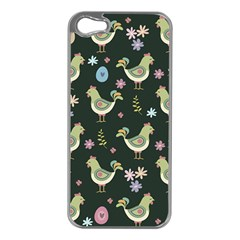 Easter Pattern Apple Iphone 5 Case (silver)