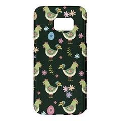 Easter Pattern Samsung Galaxy S7 Edge Hardshell Case by Valentinaart