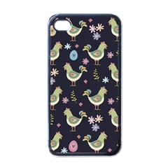 Easter Pattern Apple Iphone 4 Case (black) by Valentinaart
