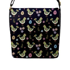 Easter Pattern Flap Messenger Bag (l)
