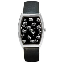 Rhino Pattern Barrel Style Metal Watch by Valentinaart