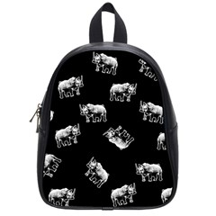 Rhino Pattern School Bag (small) by Valentinaart