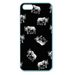 Rhino Pattern Apple Seamless Iphone 5 Case (color) by Valentinaart