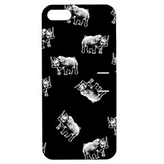 Rhino Pattern Apple Iphone 5 Hardshell Case With Stand by Valentinaart