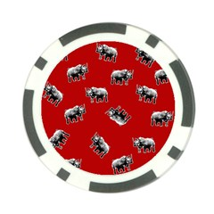 Rhino Pattern Poker Chip Card Guard by Valentinaart