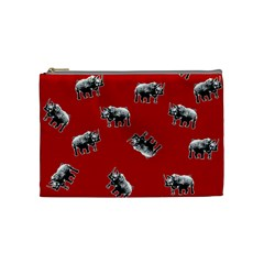 Rhino Pattern Cosmetic Bag (medium)  by Valentinaart