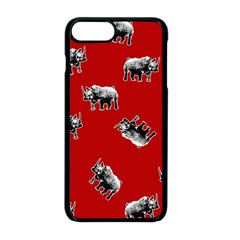 Rhino Pattern Apple Iphone 8 Plus Seamless Case (black)