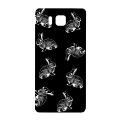 Rabbit Pattern Samsung Galaxy Alpha Hardshell Back Case by Valentinaart