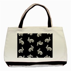 Rabbit Pattern Basic Tote Bag (two Sides) by Valentinaart