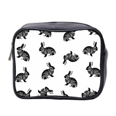Rabbit Pattern Mini Toiletries Bag 2 Side by Valentinaart