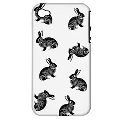 Rabbit Pattern Apple Iphone 4/4s Hardshell Case (pc+silicone)