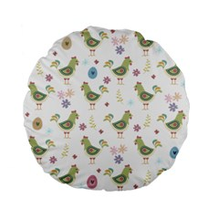 Easter Pattern Standard 15  Premium Flano Round Cushions by Valentinaart