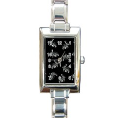 Rabbit Pattern Rectangle Italian Charm Watch by Valentinaart