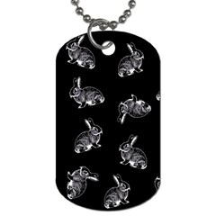 Rabbit Pattern Dog Tag (two Sides)