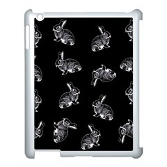 Rabbit Pattern Apple Ipad 3/4 Case (white) by Valentinaart