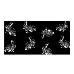 Rabbit Pattern Satin Wrap