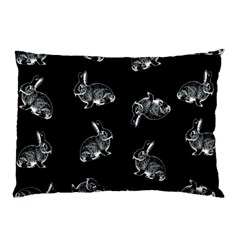Rabbit Pattern Pillow Case (two Sides) by Valentinaart