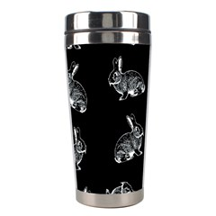 Rabbit Pattern Stainless Steel Travel Tumblers by Valentinaart