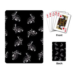 Rabbit Pattern Playing Card by Valentinaart
