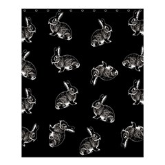 Rabbit Pattern Shower Curtain 60  X 72  (medium)  by Valentinaart