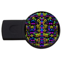 Flowers In The Most Beautiful  Dark Usb Flash Drive Round (2 Gb) by pepitasart