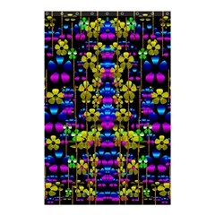 Flowers In The Most Beautiful  Dark Shower Curtain 48  X 72  (small)  by pepitasart