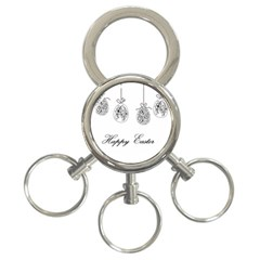 Easter Eggs 3 Ring Key Chains