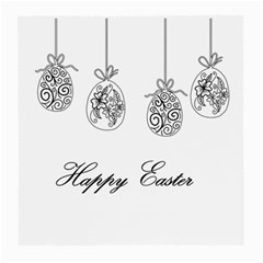 Easter Eggs Medium Glasses Cloth (2 Side) by Valentinaart