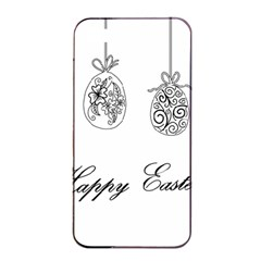 Easter Eggs Apple Iphone 4/4s Seamless Case (black) by Valentinaart