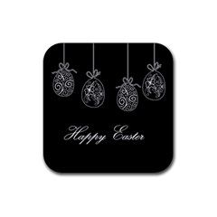 Easter Eggs Rubber Coaster (square)