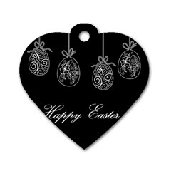 Easter Eggs Dog Tag Heart (one Side)