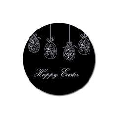 Easter Eggs Rubber Coaster (round)  by Valentinaart
